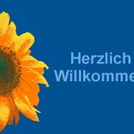 Blume-Willkommen